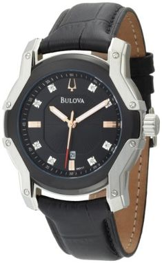 Bulova Men's 98D117 Diamond Black Dial Strap « Clothing Adds for your desire