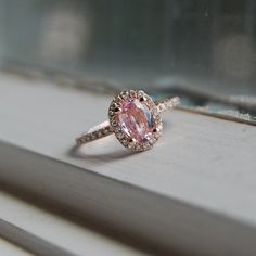 I don't understand my obsession with pink engagement rings, but I need one.