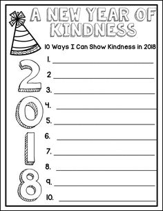 Celebrate the New Year, Resolutions and Kindness Challenge! - Writing for 2020 Teaching Writing, Writing Activities, Classroom Activities, Teaching Tools, Teaching Ideas, 4th Grade Activities, Classroom Projects, Class Projects, Kindergarten Classroom