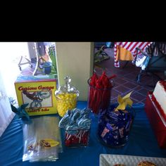 Curious George Baby Shower | sweets buffet - candy! 1.28.12