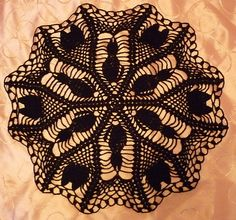crochet+patterns+for+halloween+doilies | Black Cat Halloween Doily free pattern
