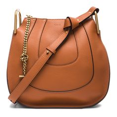 Chloe Small Hayley Leather Hobo ($1,890) ❤ liked on Polyvore featuring bags, handbags, shoulder bags, accessories, purses, leather hobo shoulder bag, shoulder handbags, leather purses, leather hobo handbags and brown leather shoulder bag