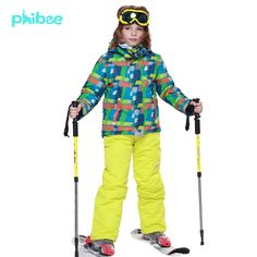 (135.00$)  Watch now - http://airsf.worlditems.win/all/product.php?id=32682229682 - Winter Fleece Warm Ski Suit Boys Waterproof Mountain Skiing Jacket Coat + Bib Pants Children Kids Snowboard Snow Clothing 8011