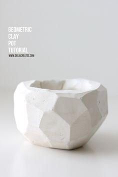DIY Geometric Clay Pot TUTORIAL