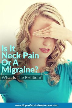 Pain Remedies Neck pain is a common migraine symptom, and with good reason. But before we get to that, let's take a look at some research in Italy that clearly connects neck pain and migraines. Neck Headache, Tension Headache, Neck Pain Relief, Migraine Relief, Migraine Diet, Migraine Pain, Libra, Chronic Migraines, Health