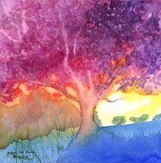 Enchanted Oak -- watercolor by Gina Lee Kim