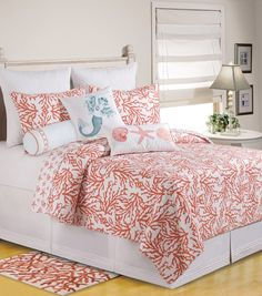 Tropical Quilts | Cora Quilts & Accessories C&F | Tropical, Seashell & Beach Bedding, Quilts, Duvets and Comforter Sets | PaulsHomeFashions....