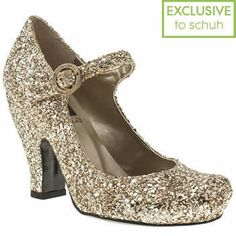 Women's Gold Red Or Dead Shirley Glitter at Schuh