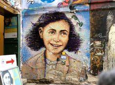 Anne Frank by Jimmy C. alias James Cochran, Berlin Mitte #streetart #berlin