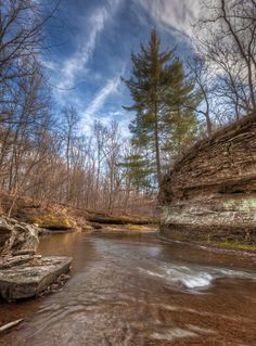 """Fall Creek Gorge or """"The Potholes"""" near Attica, Indiana. Photo by Chris Harnish"""