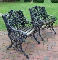Antique Cast Iron Garden Chairs Part 39