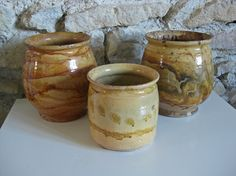 French confit pot  unusual glazed terracotta pot for by Histoires