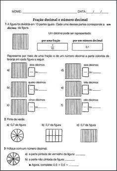 SOS PROFESSOR-ATIVIDADES: Fração decimal e número decimal