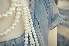 blue and pearls