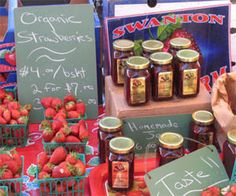 This site has great ideas for getting ready for your first farmers' market.