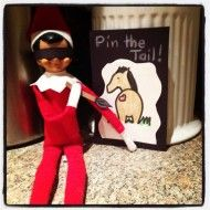 Pin the Tail on the Donkey - Elf on the Shelf....
