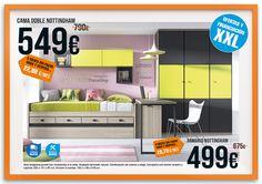 Cama nido y armario juvenil NOTTINGHAM. Oferta válida hasta 31/05/2015. Financiación y montaje incluido, solo en tienda física.