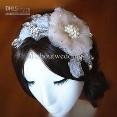 Wholesale Lace Crystal Rhinestone Flower Appliques Wedding Bridal Headwear Bridal Hair Accessory Hairband, Free shipping, $28.41/Piece | DHgate