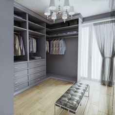 Bespoke traditional closet Range: Waybridge The Waybridge dressing room is the elegant spray-painted walk in closet. The fitted wardrobe consists of several open-plan sections without doors with the hanging space for shorter and maxi clothes. Small Dressing Rooms, Dressing Room Mirror, Dressing Room Design, Wardrobe Room, Walk In Wardrobe, Build Wardrobe, Glass Wardrobe, Walk In Robe, Walk In Closet Design