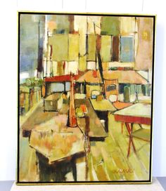 Art Class by Audrey Salkind Original Acrylic Painting Abstract Expressionism Figurative Listed Artist Signed - pinned by pin4etsy.com