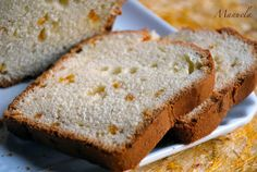 Plum cake con scorzette d'arancia candite. da La via delle spezie