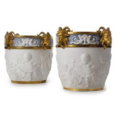 A Pair of large Sèvres style biscuit jardinières<br>Paris, circa 1900 | lot | Sotheby's
