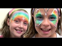 Fairy Floss Split Cake FACE PAINT TUTORIAL