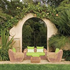 Janus et Cie outdoor seating.