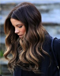 Kate Beckinsale BROWN/GOLD OMBRE
