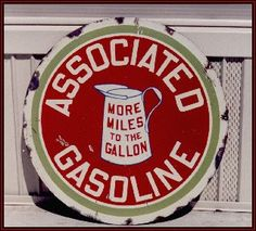 Decorate with a vintage gas station sign on gemworld.com