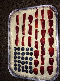 Happy 4th of July! My wife made a great American Flag cake.