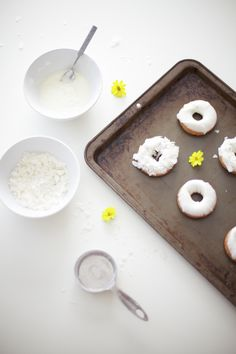 white coconut donuts