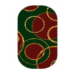 Garland - Decorate the Christmas tree and your nails with this fun and festive holiday design featuring cranberry, forest green and gold!