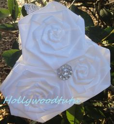 white lace flower girl headband by Hollywoodtutu on Etsy, $16.50
