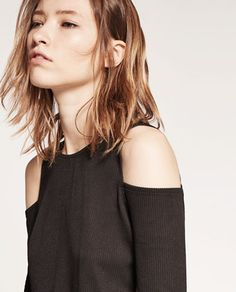 Image 3 of RIBBED T-SHIRT from Zara
