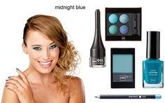 make-up look: Midnight blue