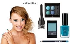 make-up look: Midnight blue