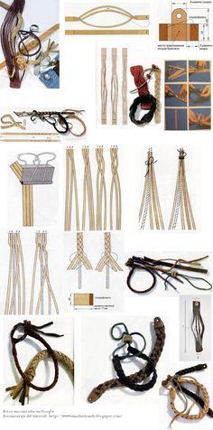 Entre otros incluye un tutorial para hacer las pulseras trenzadas redonditas