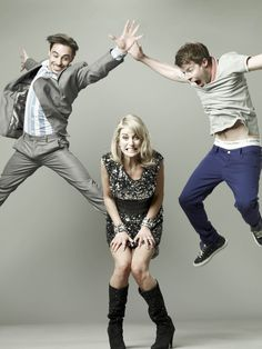 Emun Elliott, Stephen Wight & Amy Huberman in 'Threesome' the funniest show on television
