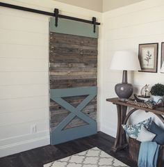 Love this look!! Too expensive but can we make something similar? Arrow Barn Door