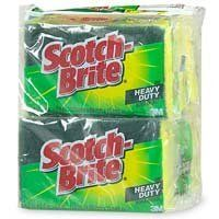 Scotch-Brite Heavy Duty Scrub Sponge - 6 ea or 6pk by 3M. $1.99. #1 selling heavy duty scrub sponge in America. Makes tough jobs fast and easy. Versatile- Great for kitchen, garage, or outdoor use. Scotch-Brite® Heavy Duty Scrub Sponges Provide Fast Cleanups of Tough Jobs. Maximum strength scouring power removes tough, baked-on messes 50% faster than competitive heavy duty scrub sponges. There is a high quality, high-performance Scotch-Brite® product for every cleaning need.