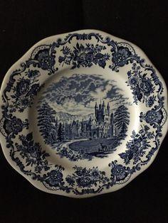 Royal Homes of Britain Enoch Wedgwood (Tunstall) LTD England dinner plate 10\  & Wedgwood Decorative Plate \u0027Pink Sonata\u0027 Music of Flowers Collection ...