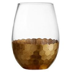 Shop for Fitz and Floyd Daphne 20-ounce Gold Stemless Glasses (Set of 4). Free…