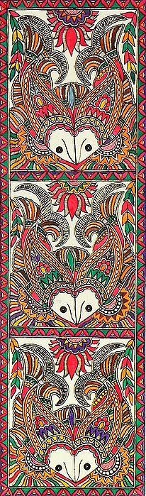 Motifs Fish Motifs (Madhubani Folk Art on Paper - Unframed)Fish Motifs (Madhubani Folk Art on Paper - Unframed) Madhubani Art, Madhubani Painting, Kalamkari Painting, Indian Folk Art, Indian Art Paintings, Art N Craft, Traditional Paintings, Art Graphique, Fish Art