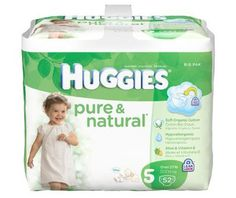 Huggies Pure & Natural Diapers, Size 5, 104-Count - http://www.intomars.com/huggies-pure-and-natural-diapers-size-5.html
