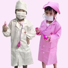 Children Doctors Nurses Uniform Overall Police Cosplay White Gown Fancy Costume #Unbranded