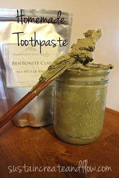 Homemade Toothpaste in a Tube