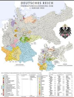 Map of German Empire in 1900 European History, World History, History Of Germany, Poland History, Empire, Fantasy Map, Alternate History, Old Maps, Historical Art