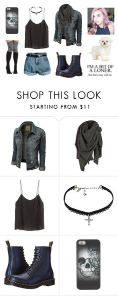 """""""Untitled #746"""" by akts on Polyvore featuring AllSaints, H&M, Vanessa Mooney, Dr. Martens and Retrò"""