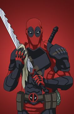 Deadpool (Armored), requested by . Original Artwork by phil-cho, commissioned by Roysovitch and various sponsors for his Project. Marvel Comic Universe, Marvel Dc Comics, Marvel Heroes, Black Anime Characters, Marvel Characters, Character Art, Character Design, Deadpool Art, Marvel Background